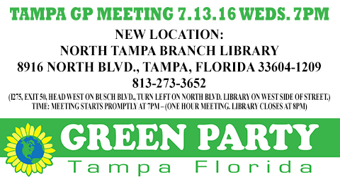 TAMPA GP Meeting 7.13.16 WEDS. 7PM